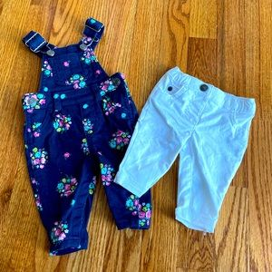 Baby Girls Newborn Carter's Floral Overalls & Pant